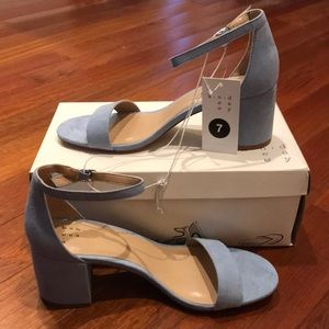 Suede heels *New with tags*